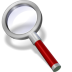 72x72px size png icon of search red dark