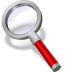 72x72px size png icon of search red