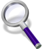 72x72px size png icon of search violett