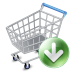 72x72px size png icon of shop cart down