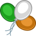 72x72px size png icon of balloons color