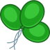 72x72px size png icon of balloons green