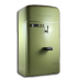 72x72px size png icon of vintage fridge green
