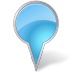 72x72px size png icon of Map Marker Bubble Azure