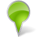 72x72px size png icon of Map Marker Bubble Chartreuse