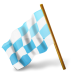 72x72px size png icon of Map Marker Chequered Flag Left Azure