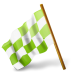 72x72px size png icon of Map Marker Chequered Flag Left Chartreuse