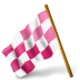 72x72px size png icon of Map Marker Chequered Flag Left Pink