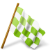72x72px size png icon of Map Marker Chequered Flag Right Chartreuse