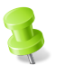 72x72px size png icon of Map Marker Push Pin 2 Left Chartreuse