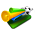 72x72px size png icon of fans horn