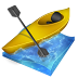 72x72px size png icon of kayak slalom