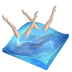 72x72px size png icon of swimming synchronized