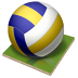 72x72px size png icon of volleyball