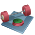 72x72px size png icon of weightlifting