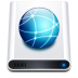 72x72px size png icon of disk hd network