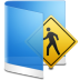 72x72px size png icon of folder blue public