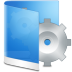 72x72px size png icon of folder blue system