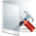72x72px size png icon of folder white configure
