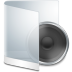 72x72px size png icon of folder white music