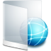 72x72px size png icon of folder white network