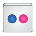 72x72px size png icon of social flickr