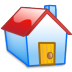 72x72px size png icon of Home red