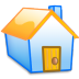 72x72px size png icon of Home yellow