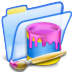 72x72px size png icon of Paint folder