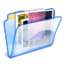72x72px size png icon of Pictures folder