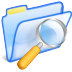 72x72px size png icon of Search folder