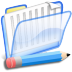 72x72px size png icon of Documentos azul