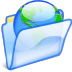 72x72px size png icon of Web folder