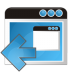 72x72px size png icon of application arrow left
