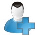 72x72px size png icon of user add