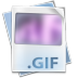 72x72px size png icon of Filetype gif