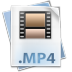 72x72px size png icon of Filetype mp 4