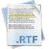 72x72px size png icon of Filetype rtf