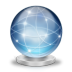 72x72px size png icon of Network globe online