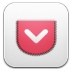 72x72px size png icon of Pocket alt 2