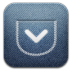 72x72px size png icon of Pocket alt Demin