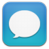 72x72px size png icon of message blue
