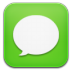 72x72px size png icon of message green