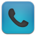 72x72px size png icon of phone blue black