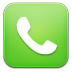 72x72px size png icon of phone green