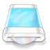 72x72px size png icon of drive blue disk