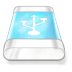 72x72px size png icon of drive blue usb