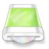 72x72px size png icon of drive green disk