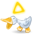 72x72px size png icon of duck quack