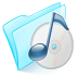 72x72px size png icon of folder blue musique